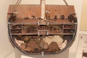 Querschnitt durch ein Sklavenschiff