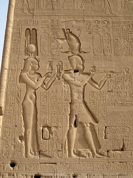 Kleopatra Bild aus dem Dendera Tempel (c) Olaf Tausch