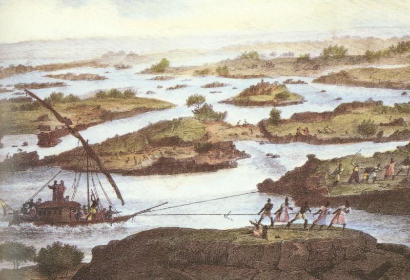 Der Nil, gezeichnet von einem unbekannten Maler aus dem Altertum (c) wikicommons