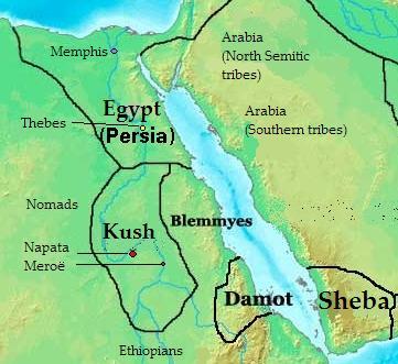 Das Reich von Kusch 400 vor Christus (c) Kubek15
