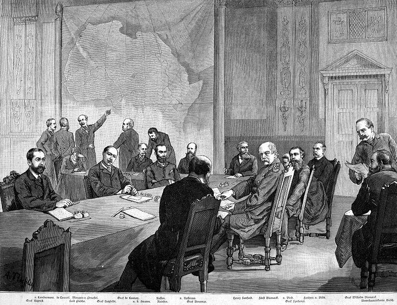 Kongokonferenz in Berlin - Zeichnung von Aldalbert von Roler