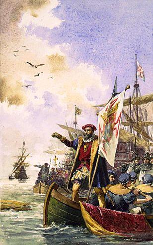 Vasco da Gama auf seiner Erkundungsfahrt nach Afrika (c) LibraryofCongress
