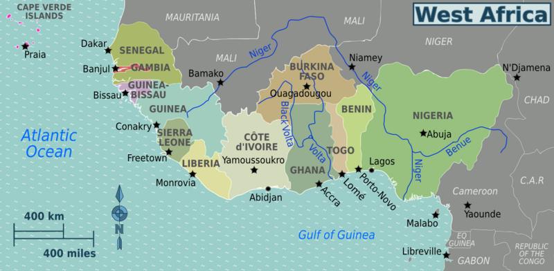 Die Länder von Westafrika