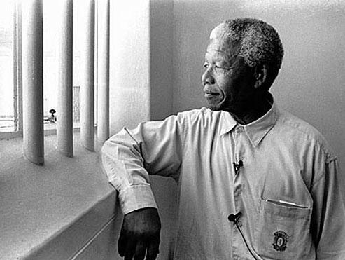 Mandela im Gefängnis auf Robben Island (c) wikicommons