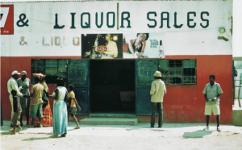 Kneipe in einer afrikanischen Stadt