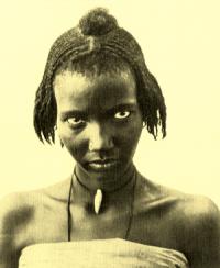 Junges Mädchen aus Senegal