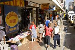 Großstadt in Ostafrika