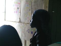 Mädchen in einem Township in Südafrika