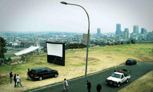 Aufblasbare Kinoleinwand (c) Wikimedia
