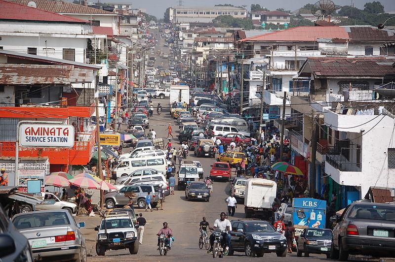 Innenstadt von Monrovia