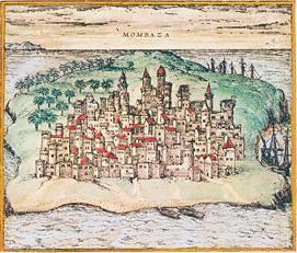Das mittelalterliche Mombasa (c) Braunand Hogenberg