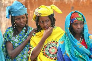 Fulani Frauen in Festttagskleidung
