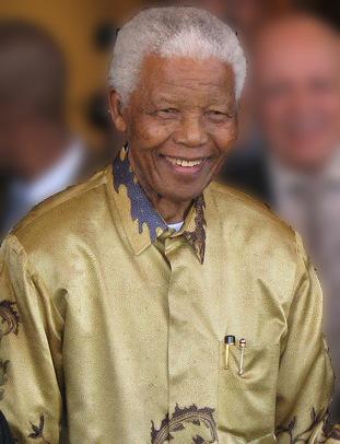 Nelson Mandela - erster schwarzer Präsident von Südafrika