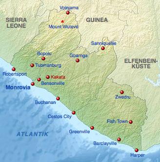 Karte von Liberia (c) Diederis
