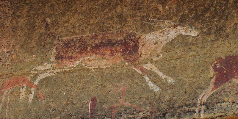 Felszeichnung der Buschmenschen in den Drakensbergen