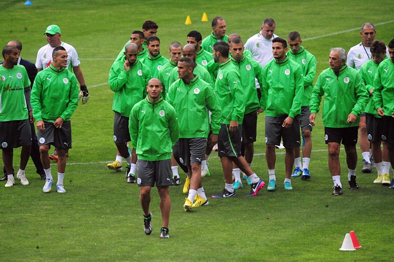Algeria NT training 2013 AFCON (c) Magharebia BY2.0.